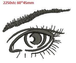Girl Eye Machine Embroidery Design