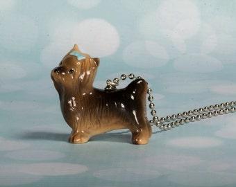 Yorkie Necklace - Yorkshire Terrier Necklace - Yorkie Jewelry - Yorkie Pendant - Dog Jewellery - Terrier Jewelry - Yorkie Frenchtutu Jewelry