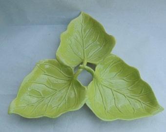 Frazier California Pottery Leaf Dish Mid Century Ceramics
