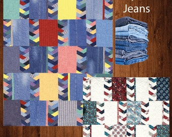 PDF DOWNLOAD- Denim Twist Quitl Pattern