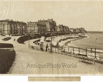 Eastbourne UK waterfront antique albumen photo England