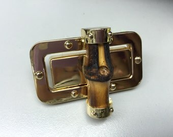 1 pieces of beautiful Large bamboo twist lock 60mm x 33mm,decorative lock, hardware for handbag and purses and accessories