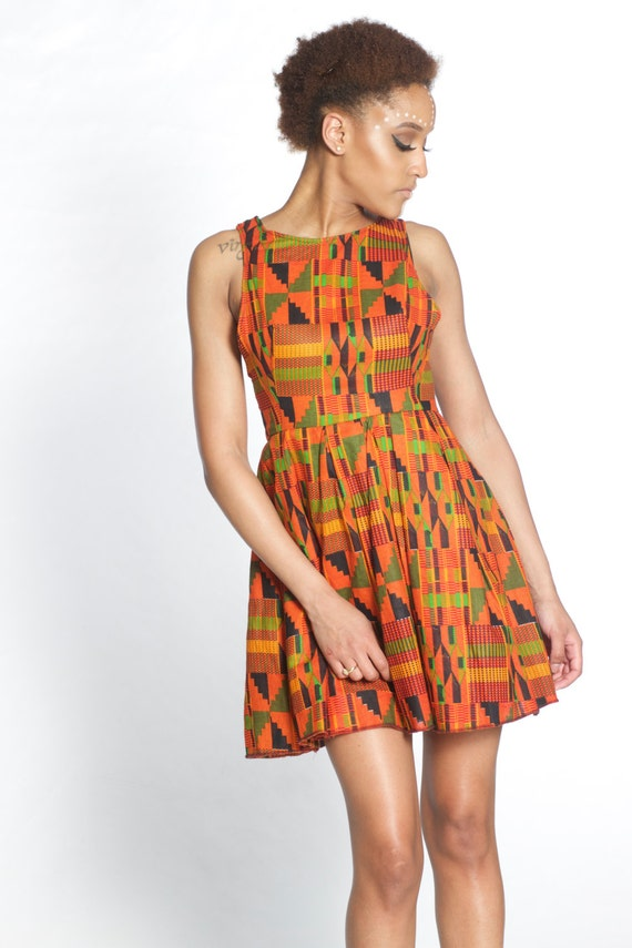 Image result for kente cloth dress