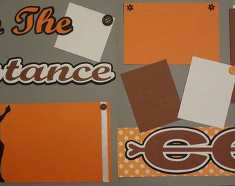 SALE - Go The Distance 2 page 12x12 premade scrapbook page kit