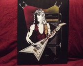 "Randy Rhoads in Art is a Limited Edition Print of the Original Art / 10""x13"" and numbered by Artist: Charles Freeman"