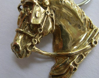 Bronze Driving horse, pendant, or keychain, use for whatever you like!  Signed design. Zimmer