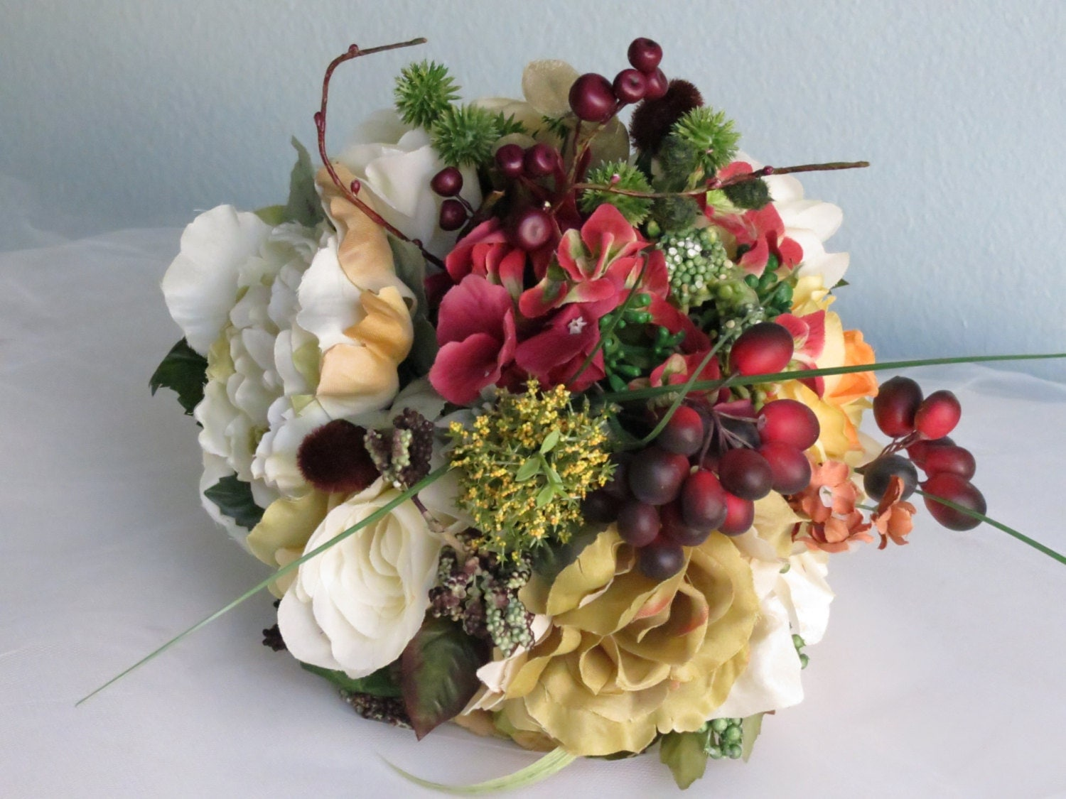 fall wedding bouquets autumn wedding bridal bouquet silk flowers wedding accessory 4020