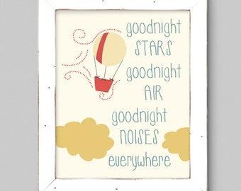 Goodnight Moon Children's Art Print - 8x10