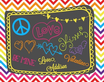 Tween Teen Doodles be mine Printable DIY Valentines Day Cards