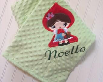 Red Riding Hood Fairy Tale Minky Minkee Blanket