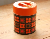 Lovely vintage retro coffe metal  tin from sweden