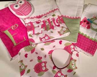 Burp Cloth, Bib Set