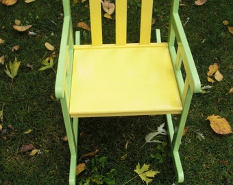 Childrens Rocking Chair - Hand Painted (Can be customized with childs name)