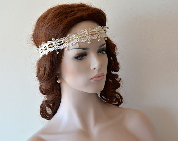 Wedding Lace Headband Bridal Headband İvory Lace Headband
