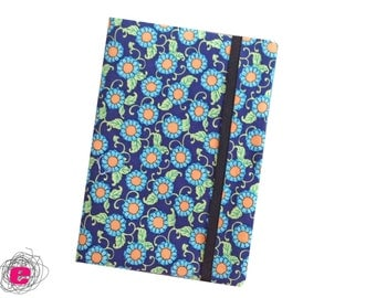 e-reader sleeve, ebook reader pouch, kindle pouch flowers