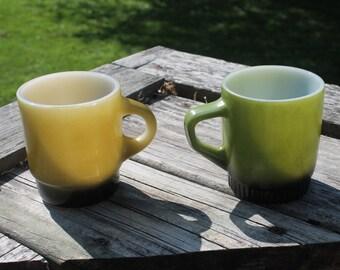 Anchor Hocking Fire King Mugs - Set of 2