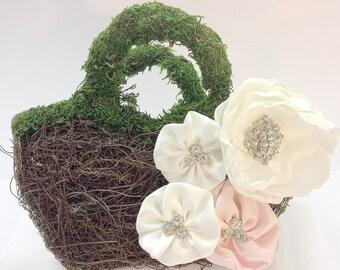 Flower girl Twig basket / planter