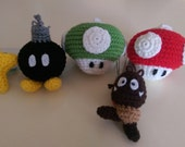 RESERVED LISTING for Gdelsi- Custom Mario Ornament set
