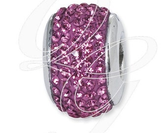 Sterling Silver Reflections October Full Swarovski Elements Bead (rb - 1252)
