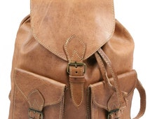 genuine leather backpack vintage natural leather hanging power leather bag, A20