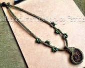Reserved for Casey M. Handmade Sage Hemp Necklace with Handmade Sage Hemp Wrapped Ammonite Pendant