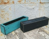 "20"" Rustic Wood Box Trencher / Planter Repurposed From Old Wooden Pallets"