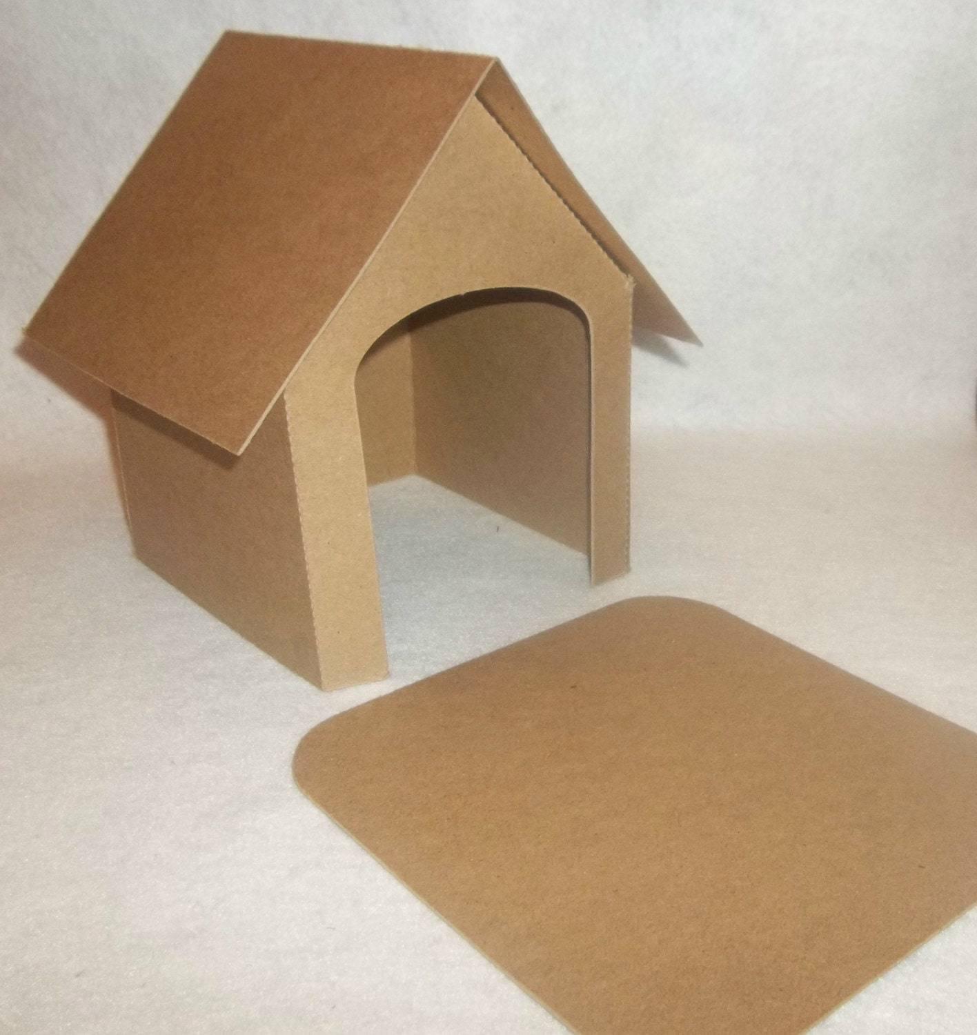 Cardboard DIY 7 1 2 Tall Dog House Set By Littlevillagehouses