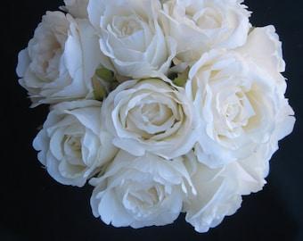 Garden Cream Rose Bouquet