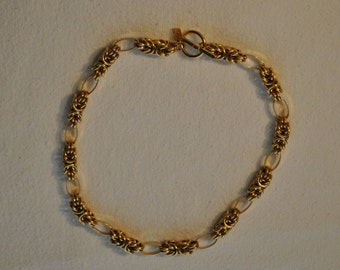 Anne Klein, Necklace, Choker, Gold, Bird Nest Chain, Toggle, Clasps, 18, Inches, Long