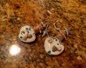 Glass Heart Beach earrings