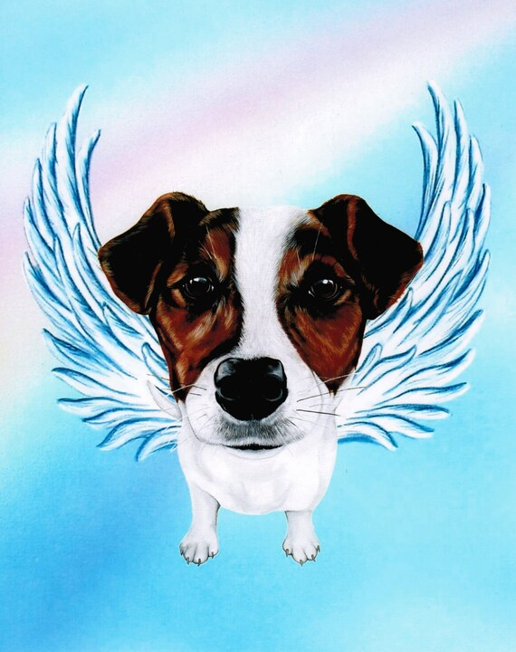 Jack Russell Terrier Jack Russell Angel Jack By Artbyweeze