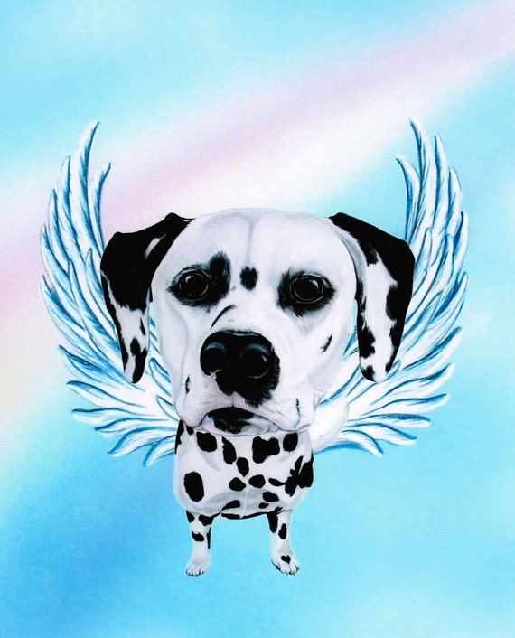 Dalmatian Dalmatian Angel Dalmatian Art Dog Angel By
