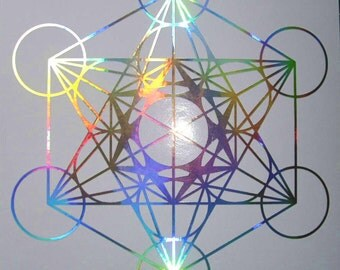 Metatrons Cube vinyl decal