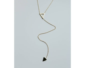 LOLA necklace / lariat necklace / y necklace / gold necklace / layering necklace / dainty necklace / v necklace / delicate necklace