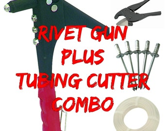 Hula Hoop Tubing Cutter and Rivet Gun Combo - Great for building Hula Hoops