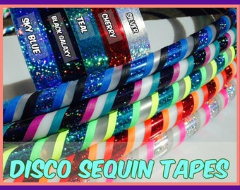 "3/4"" Disco Sequin Hula Hoop Tape - You Pick the Color"