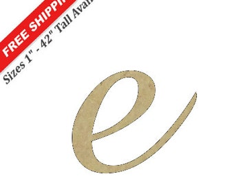 """Small Wooden Letter """"e"""" Wood Letters for Nursery, Baby Name and More"""