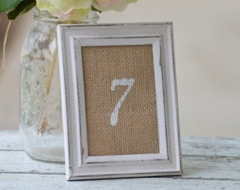 rustic table numbers wedding, shabby chic table numbers distressed, vintage wedding decor, burlap wedding, bridal shower decor, garden party