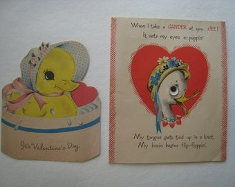 Vintage valentines from the 1940's