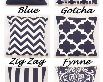 Navy Blue PILLOW COVER, Navy, Decorative Pillow,Accent Pillow,Throw Pillow, One Pillow Cover,18 x 18, 20 x 20, 22 x 22