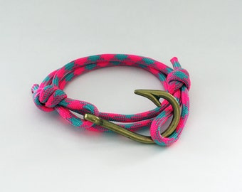 FISHERMAN - unique fish hook bracelet, +MORE COLORS