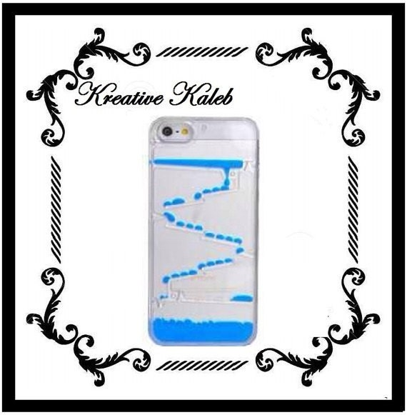 Plastic case snap on cover for iphone 5 5s blue by for Snap on fish tank