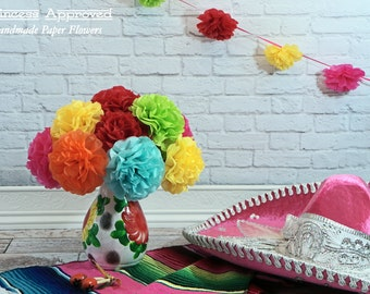 FIESTA Tissue Paper Flowers (12 count)