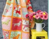 Delicious dachshund lap quilt pattern