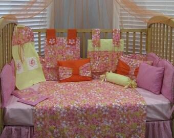Hawaiian Flower 14 Piece Baby Bedding Crib Set