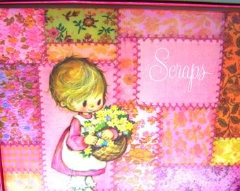 Vintage Scrapbook, Photo Album,  Journal, Diary, Sketch Book, Hallmark 1971,