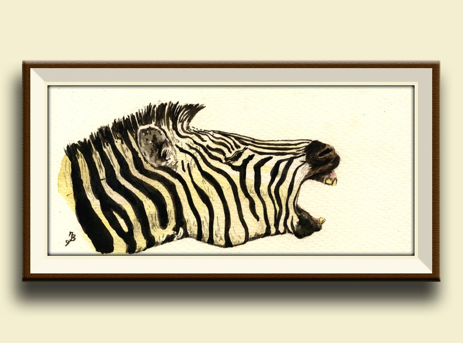 Zebra Head Wall Decor : Print zebra head laughing animal art wall decor africa