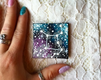 Tiny Hand Painted Virgo Constellation Magnet