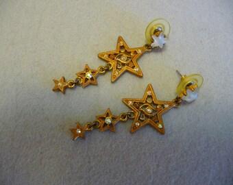 Vintage Dangling Star Drop Earrings