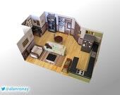 Jerry Seinfeld's Apartment DIY Miniature Model